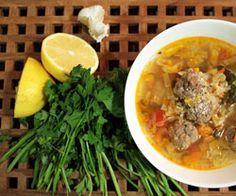 Italiensk kødbolle-suppe - opskrift