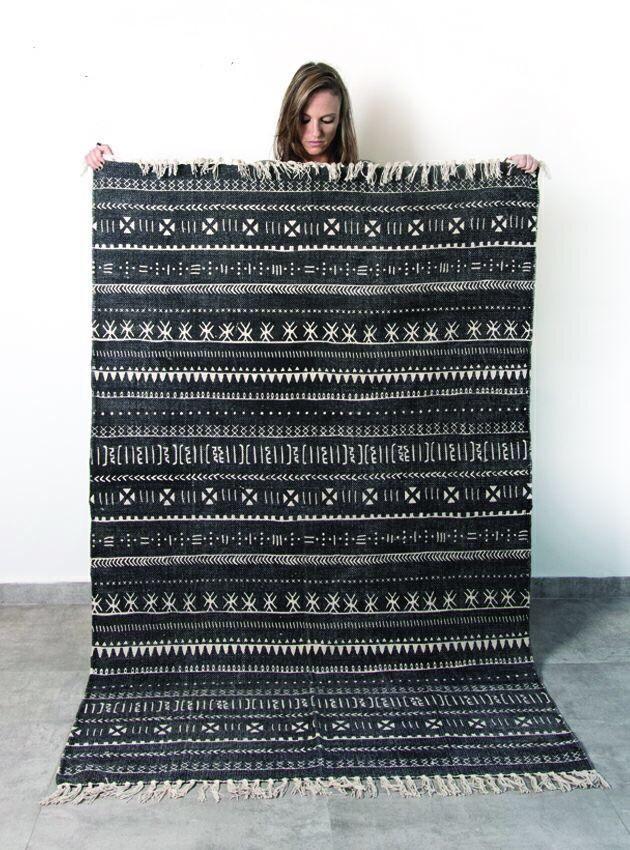 שטיח טרייבל שחור