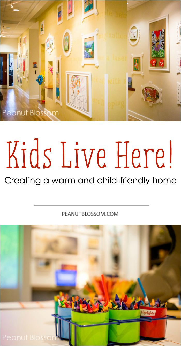 Don't hide away the signs of your kids, embrace them! Love these tips for creating a warm and cozy family friendly home.