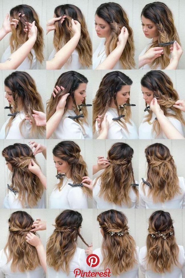 1001 Ideen Fur Oktoberfestfrisuren Mit Anleitung Frisuren Frisuren Lange Haare Offen Anle Bridesmaid Hair Tutorial Prom Hair Tutorial Half Up Hair