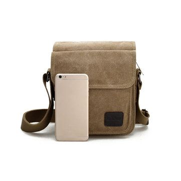 Men Canvas Crossbody Bag Casual Messenger Retro Shoulder Bag Korean Style Bag  is hot-sale, many other cheap crossbody bags on sale for men are provided on NewChic.