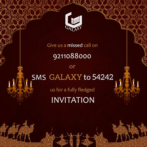 To get an #invitation you can #call or #message us on given numbers. #TheGalaxyGroup   #LuxuriousResidential #SummerFiesta #Event #April