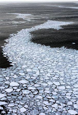 Drift ice in Abashiri, Hokkaido, Japan