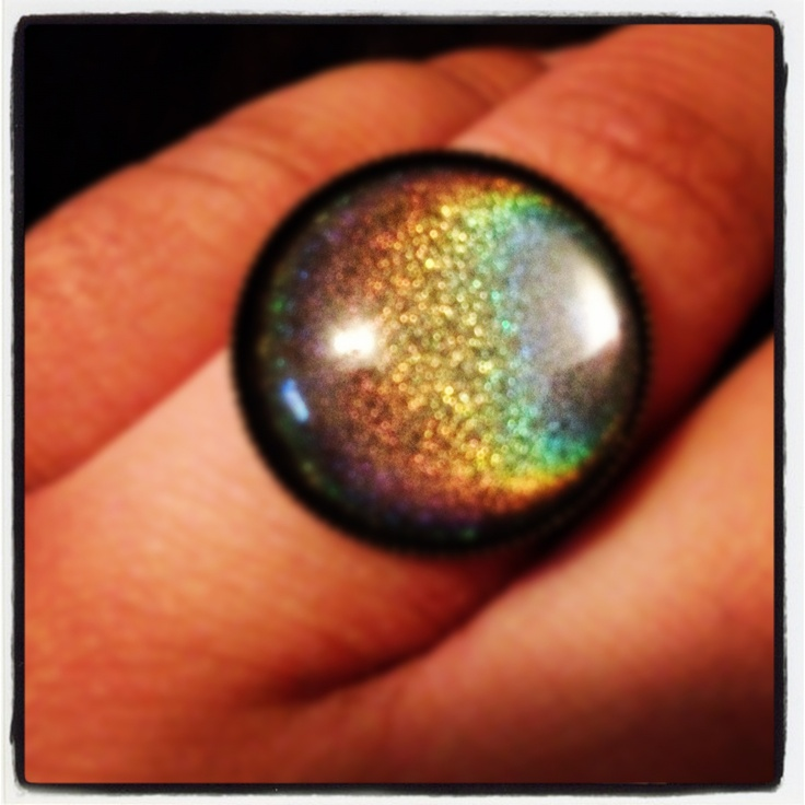 Used with holographic nail polish.
