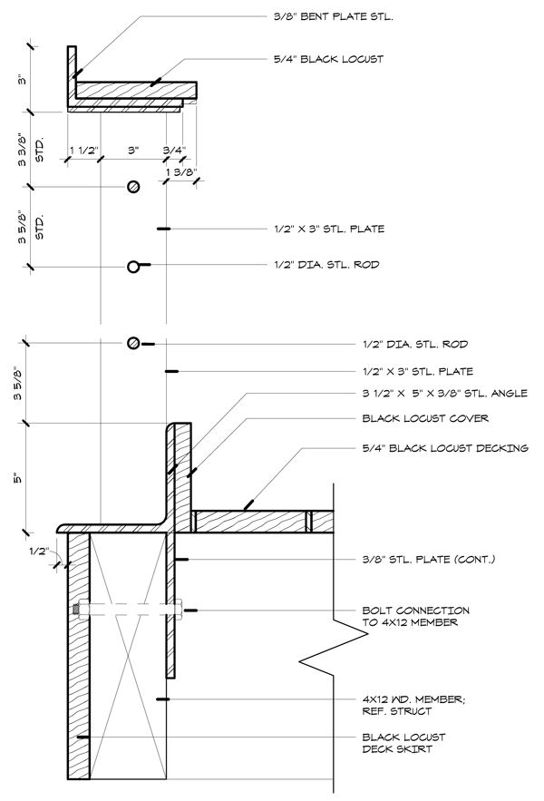 How To Build A Wood Deck Deck Wood Handrail Stair Detail