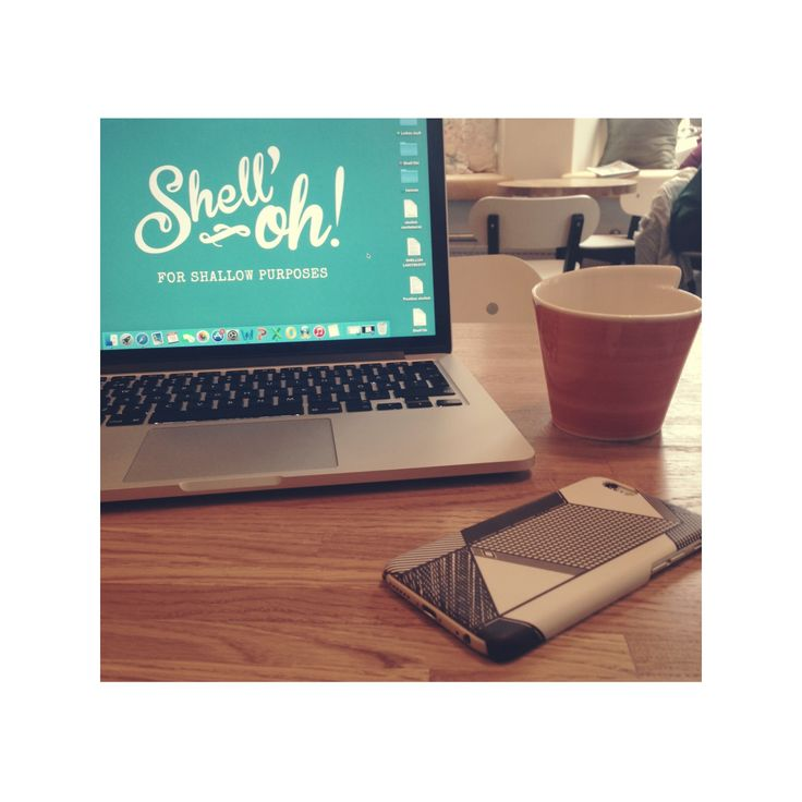 """Café office vibes on a rainy thursday afternoon //""""Tilted"""" iPhone case by Luka Appelberg for Shell'Oh!"""