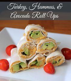 Turkey, Hummus and Avocado Rollups - #healthylunch  #foodporn #Dan330 http://livedan330.com/2014/11/10/turkey-hummus-avocado-rollups/