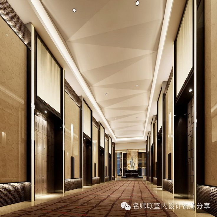 中山希尔顿酒店效果图【名师联 433期】 Elev Hall Elevator Lobby Lobby