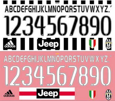 Tipografía Juventus 2016