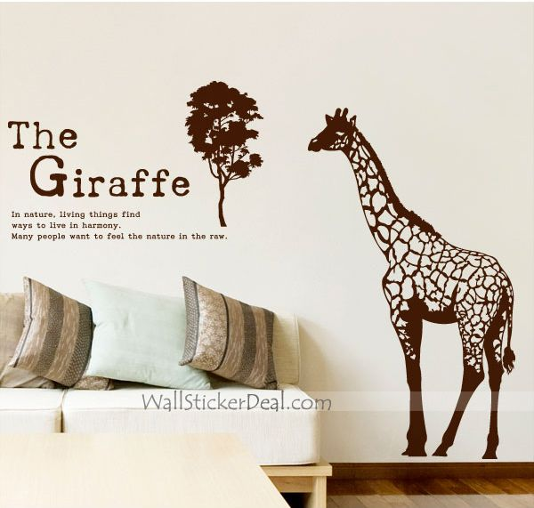 The Giraffe In Nature Wall Sticker Part 68