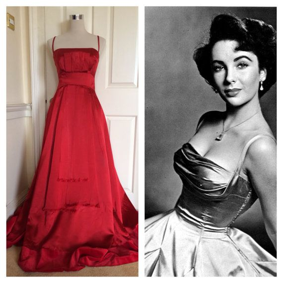 Amazing red 50s Liz Taylor-style Golden Age of by BooYorkCity