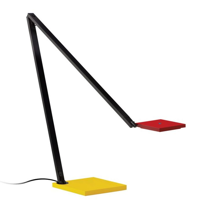 Sonneman 2050 Quattro 1 Light LED Desk Lamp with White Shade Red / Yellow / Black Lamps Desk Lamps Swing Arm Lamps