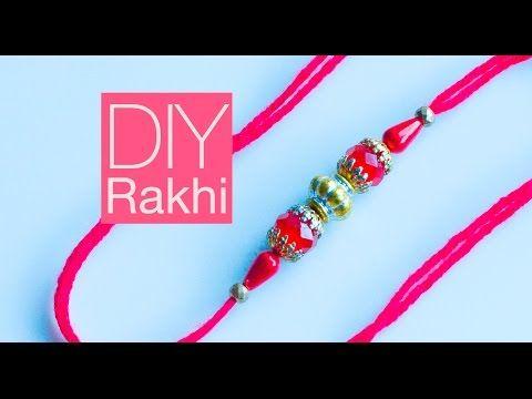 How to make rakhi | DIY rakhi for Raksha Bandhan - YouTube