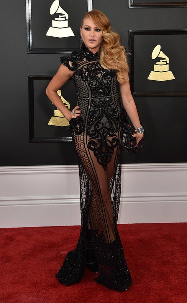 Paulina Rubio from Grammys 2017 Red Carpet Arrivals