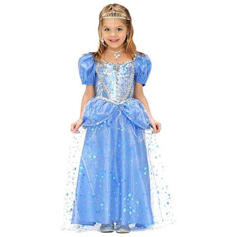 Hercegnő jelmez - kék - 140 méret