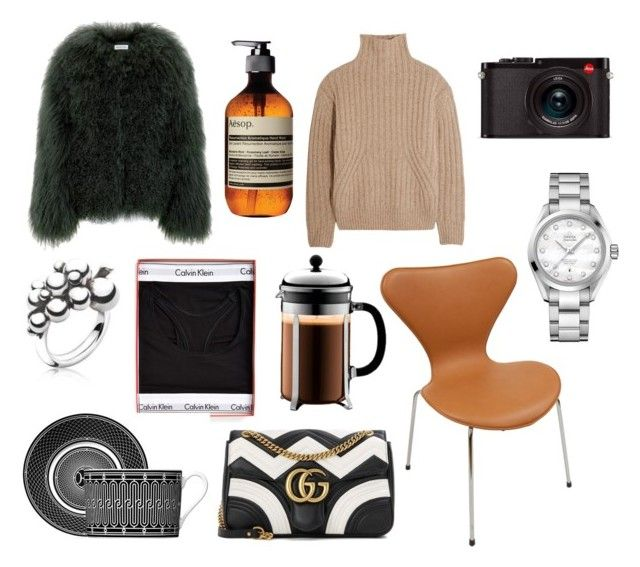 """""""Dear Santa"""" by fiejust on Polyvore featuring Calvin Klein, Gucci, Totême, Leica, Georg Jensen and OMEGA"""