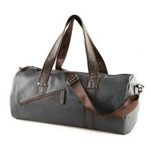 Large Capacity Outdoor Men's Sports Bag PU Leather Tote Duffel Bag Multifunction Portable Travel Sports Gym Fitness Bag(China (Mainland))