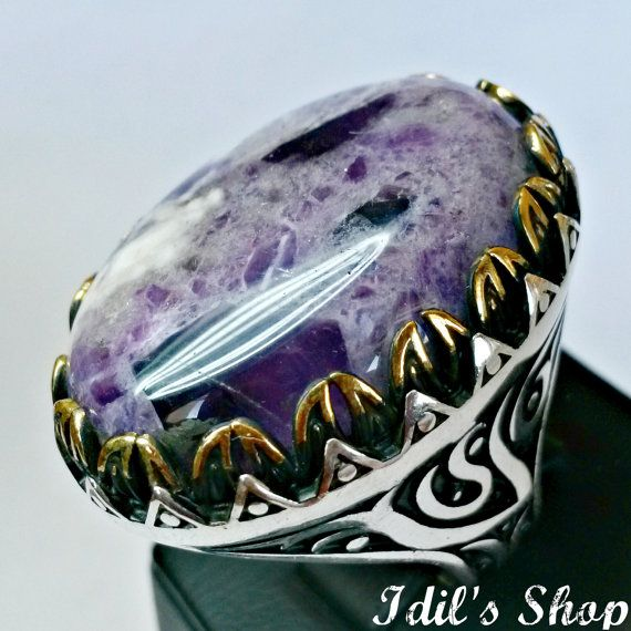 Men's Ring Turkish Ottoman Style Jewelry 925 Sterling by IdilsShop, $155.00