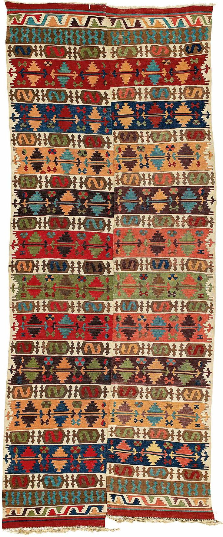 Turkish Rugs: Hotamis Konya Kelim 1st half 19th century