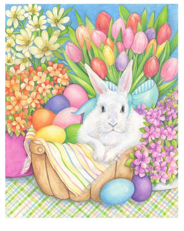 пасхальные картинки и рисунки с кроликами