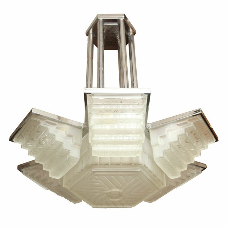 Art Deco Foyer Lighting : Large art deco chandelier by sabino lighting