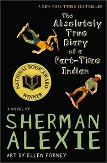 The Absolutely True Diary Of A Part-time Indian, by Sherman Alexie. Quick read, with illustrations sprinkled throughout. It's about what it means to belong, and what it means to be ostracized for trying to break out. (It's a frequently banned book, which mostly just adds to its allure.)