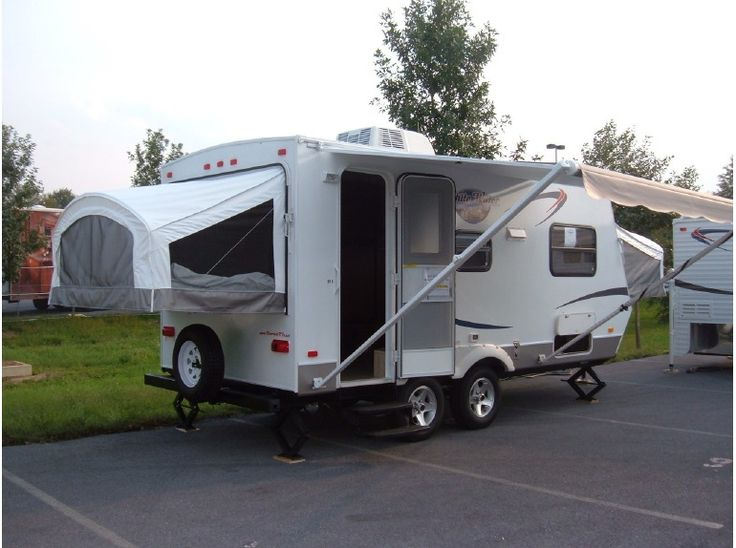 """Get most affordable deals on Cheap Used 2012 #Riverside 918H #Travel _trailer by Zieglers RV for $14495 in Allentown, PA, USA. This Rvs available with Sleeps up to 8 with 4 sleeping areas: 60""""X80"""" front pop-out bed, 60""""X80"""" rear pop-out bed, 60"""" jack-knife sofa conversion & 36""""X24"""" dinette conversion. stabilizer jacks, AM/FM/CD stereo, roof air conditioner, furnace, kitchen: 3 burner stove top, oven, and microwave and much more. You can see more details on listing at…"""