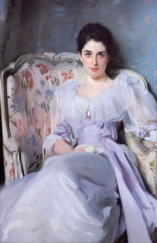 ⊰ Posing with Posies ⊱ paintings & illustrations of women & children with flowers - John singer sargent