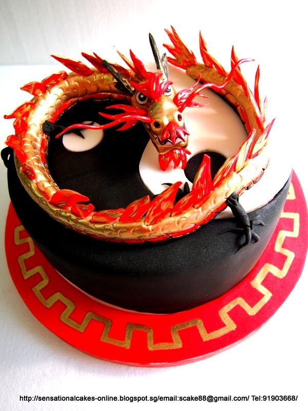 how to make an asian dragon for cake - Google Search