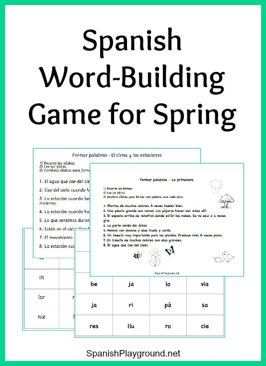 190 best images about Spanish Games for Kids on Pinterest   The ...