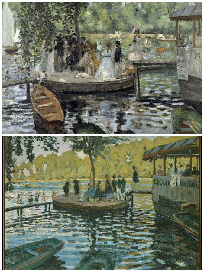 La Grenouillere (1869), Renoir & Monet   ART   Pinterest ...
