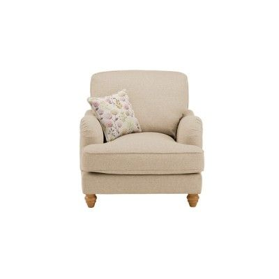 Willow Armchair - Arezzo Sand with Rose Scatter