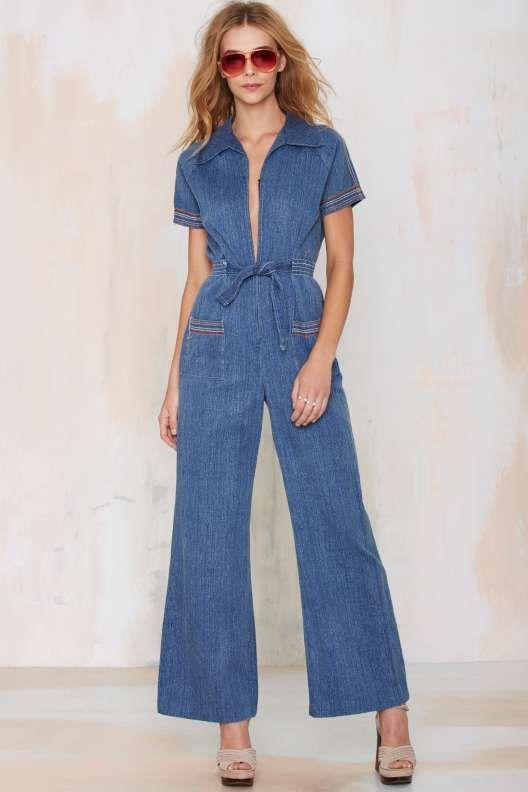 Vintage Chrissy Denim Jumpsuit