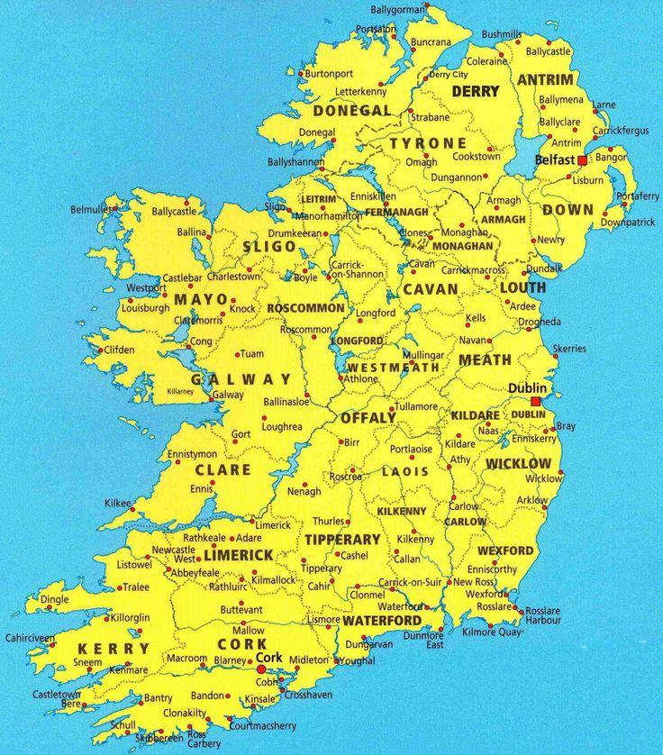 Best Ireland Map Ideas On Pinterest Northern Ireland Dublin - Map of ireland