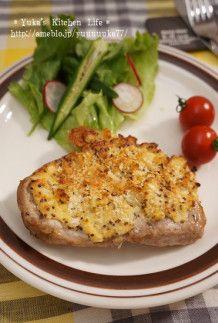 とんかつ用豚肉で粒マスタードタルタルステーキ | 簡単☆我が家のごはん&娘っ子の離乳食
