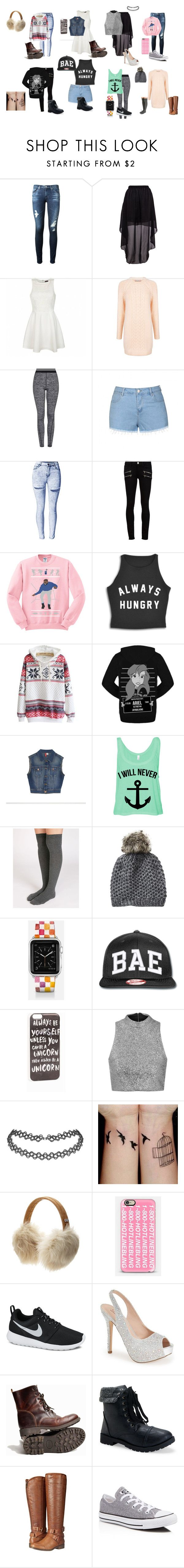 """""""cute outfits"""" by malaina-819 on Polyvore featuring AG Adriano Goldschmied, Ally Fashion, Paul & Joe Sister, Topshop, Paige Denim, Disney, Oysho, Vincent Pradier, Casetify and JFR"""