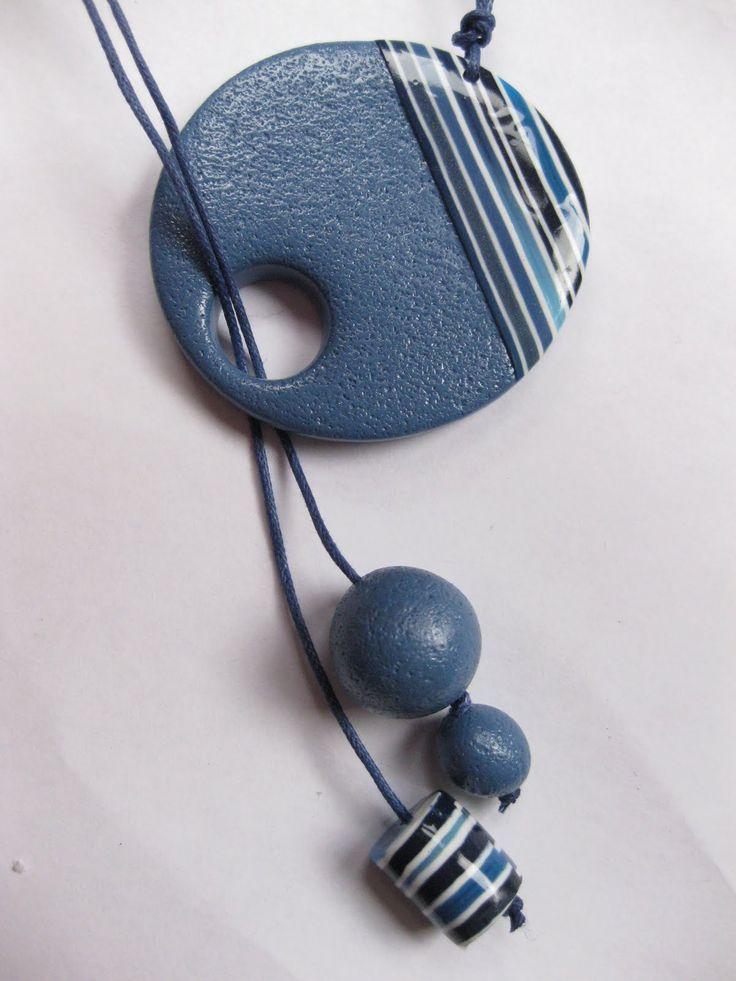 Lo handmade …: fimo pendant  – Polymer clay Schmuck