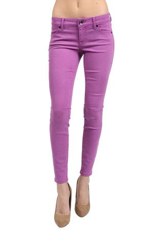 InStyle March 2012 Issue: Level 99 Janice ultra skinny in lavender $112