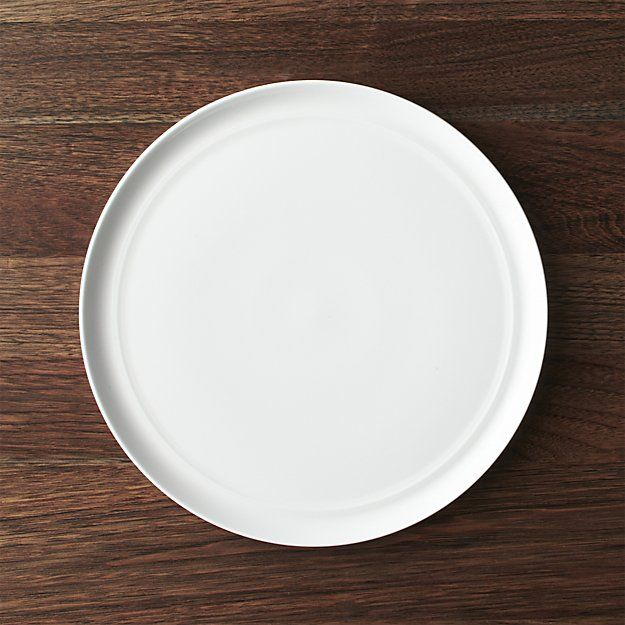 Hue White Dinner Plate | Crate and Barrel