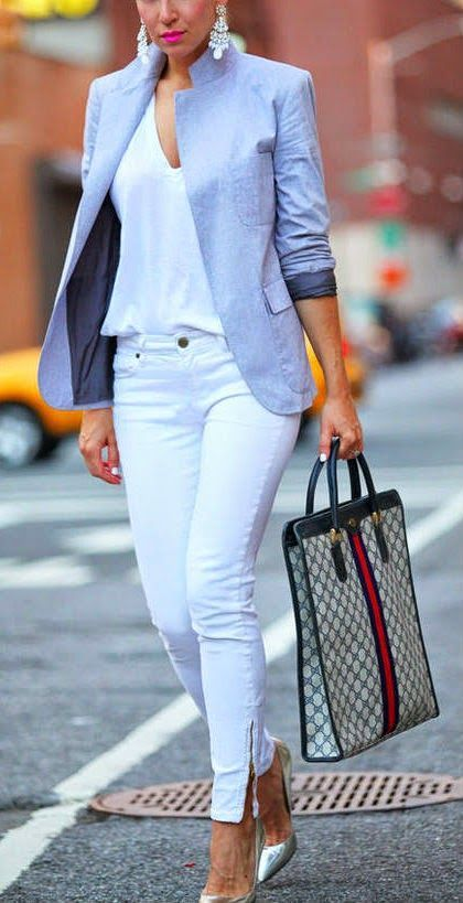 WHITE AND GREY GLAM