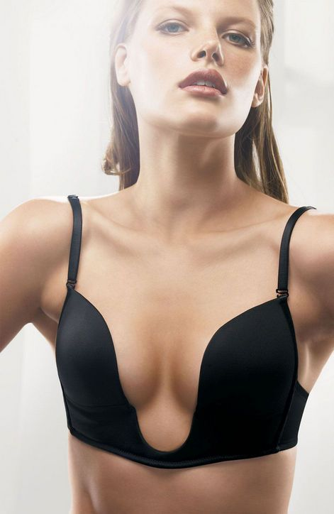 "The Best Bra for Plunging Necklines:Try this Nordstrom Intimates ""Unplunge"" Bra, $28, which is great for cup sizes B through D."