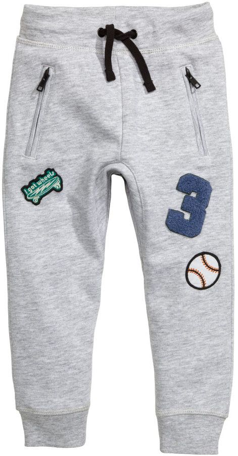 H&M - Sweatpants - Light gray melange - Kids