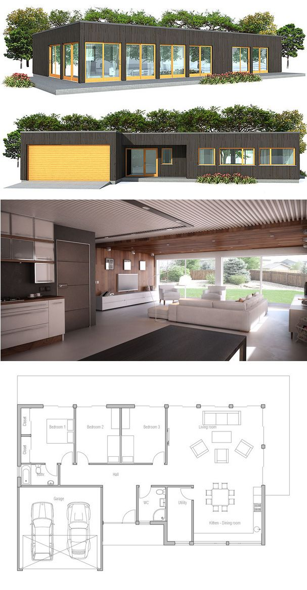 17 Best images about Plan villa on Pinterest House plans, Gaia and - plan de maison simple