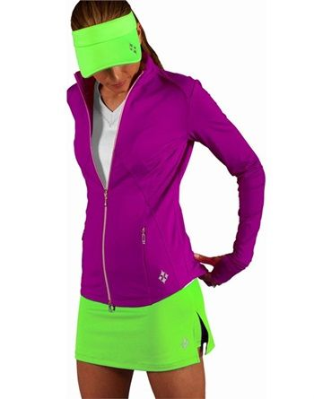 Bright!!!  Even if it's chilly outside you still want to play your best. Perfect for golf, tennis, and life