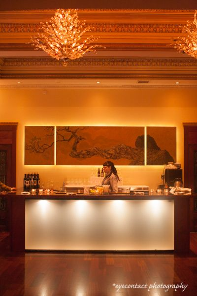Urban chic reception bar at the Rosewater Room, Toronto. photo: www.eyecontact.ca