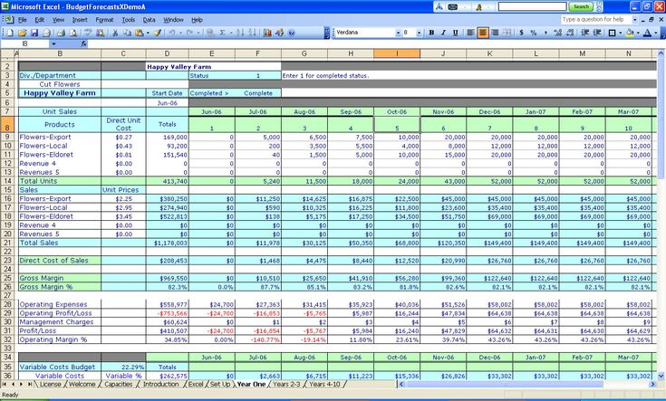 spreadsheets | Budgeting Spreadsheets for Excel, Millennium Software Inc, Business ...