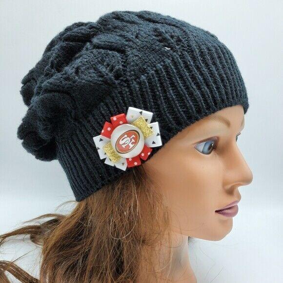 San Francisco 49ers Beanie Nfl Football Garoppolo Kittle Slouchy Beanie Hat Handmade Sanfrancisco49ers Slouchy Beanie Hat Beanie Hats Patches Fashion