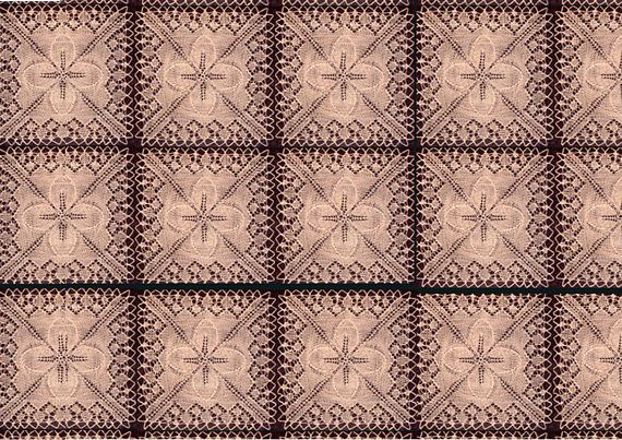 PDF Vintage 1850s Elegant 'Leaf' Lace Bedspread