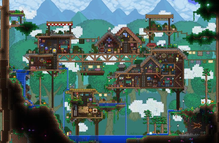 My Little Floating Village Inspired By Various Builders On Here