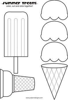 dibujos de formas de paletas de hielo para colorear - Buscar con Google